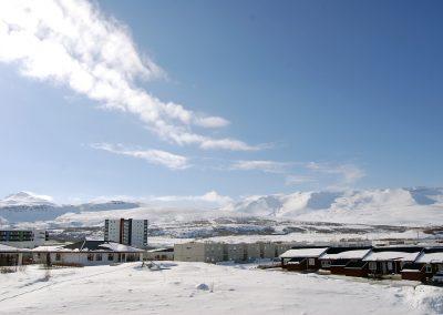 Ásatún útsýni Akureyri
